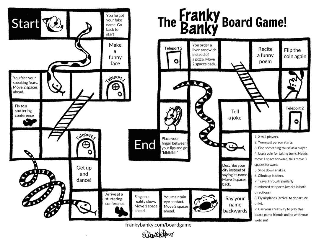 The Franky Banky board game!
